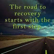 The road to recovery starts with the first step
